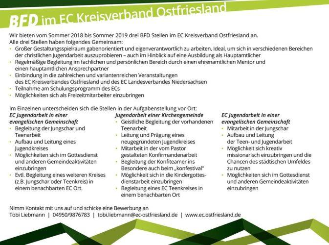 BFD im EC Kreisverband Ostfriesland