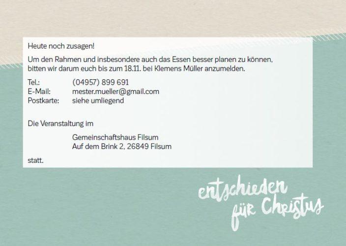 EC-Freundetreffen - Benefizabend in Filsum