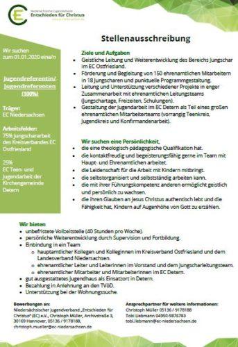 Stellenausschreibung im Kreisverband Ostfriesland